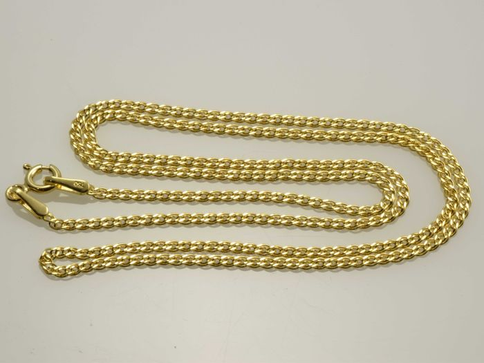 18k Gold Necklace. Chain Nonna - 45 cm - No reserve price.