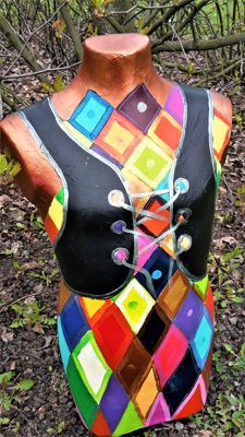 Decorative / hand-painted mannequin. Warsaw / Poland. Subjects: ,, Mannequin living entity ,,