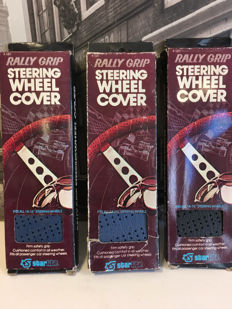 NOS 3 pieces Rally Grip steering wheel covers. USA