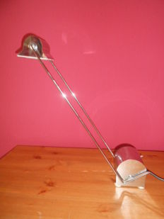"Sergio Asti  for C.I.L Roma -  ""Alugena"" chrome table lampdesk lamp"