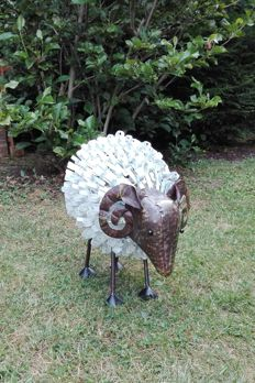 Large iron sheep