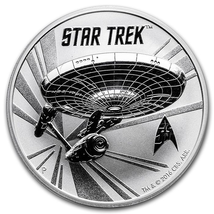 Tuvalu - 2016 Dollar 'Star Trek Enterprise' - 1 oz 999 Silver