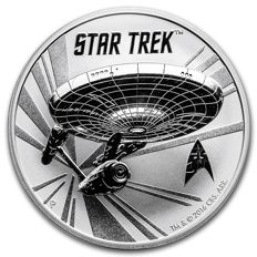Australia - Star Trek Enterprise 1 oz 999 silver coin, Perth Mint NCC-1701