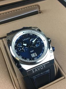 Savoy Midway GMT Chronograph, reference: B1206G.03B.RB30  – men's wristwatch – new