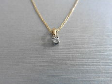 18k Gold diamond pendant 0.11 ct