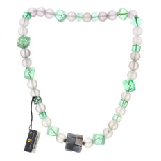Necklace with quartz stones and 925 silver clasp – 44 cm