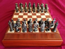 "Chess set ""The Church against the Arab world"", bronze"