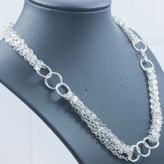 925/1000 silver necklace – Italian design – Length: 45 cm – Weight: 29.60 g.