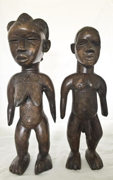 African couple of the Ivory Coast