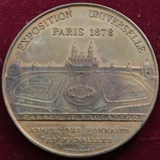 France – 'Exposition Universelle / Palais du Trocadero' medal, 1878, by Oudiné – Bronze