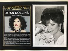 Joan Collins - Autograph and original dedication on black and white photography - 2000