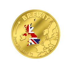 Cook Islands - $20 - gold / gold coin - Brexit 23 June withdrawal of Britain from the EU - polished plate - edition only 2016 pieces