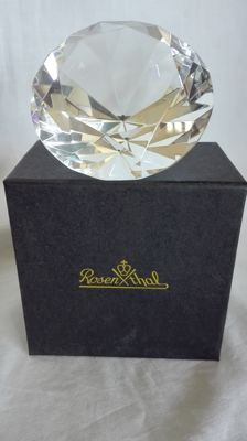 Rosenthal - Diamond shaped Crystal Paperweight