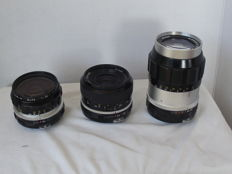3 Nikkor lenses - 28 mm - 35 mm - 135 mm