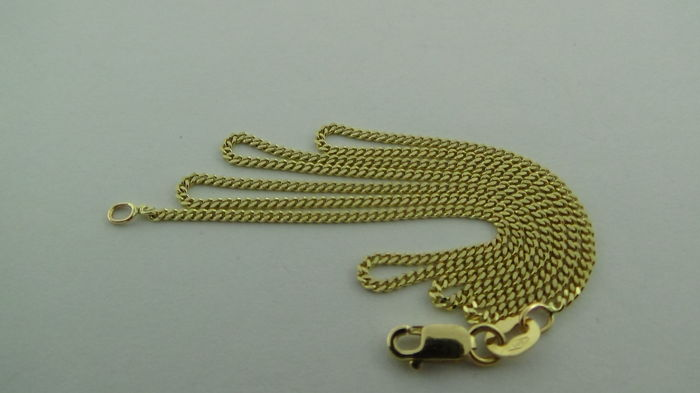 14 kt gold curb link necklace – Length: 40.5 cm