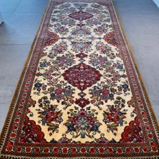 Superior light Ghom Persian runner - 190 x 84 - With certificate