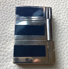 S.T. Dupont lighter- GATSBY Palladium & blue Lacquer