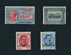 Eritrea, 1907-1928, small selection of stamps