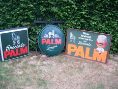 4 'Speciale Palm' advertising signs, advertising light, banner, board that says 'waar Brabant trots op is !'