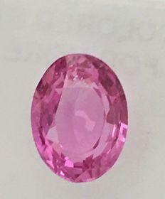 Pink sapphire - 1.35 ct - No reserve price