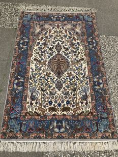 Persian Isfahan! wool on silk! Very valuable! Investment! Oriental carpet, handwoven