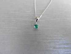 9ct gold Emerald Solitaire style Pendant -0.10ct