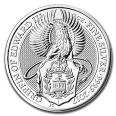 Great Britain – 5 Pounds 2017 'The Queen's Beasts / The Griffin' – 2 oz silver