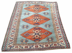19th Century Turkish Milas  Hand Knotted Area Carpet Rug 166 cm x 122 cm