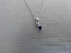 9ct gold Sapphire Solitaire style Pendant -0.10ct