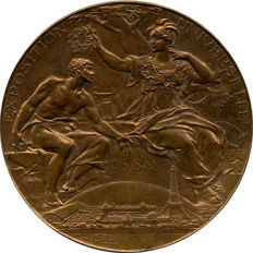 France – 'Exposition Universelle / Fabrique de Télégraphes' medal, 1889, by Louis Bottée – Bronze