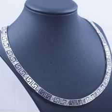 925/1000 silver necklace with Italian design – Length: 45 cm – Weight: 38.10 g.
