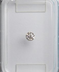 0.11 ct brilliant round-cut diamond, light pink, I2 - No Reserve Price