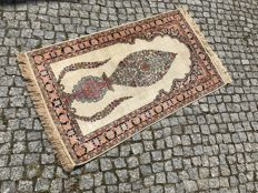 Hand knotted SILK RUG PERSIAN DESIGN 135x75 cm