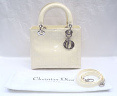 Christian Dior - White Cannage Medium Lady Dior Bag
