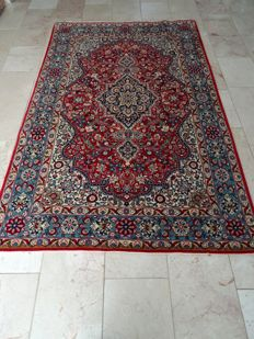 Persian hand-knotted carpet - Ghom - 230 x 141 cm - with silk