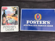 2 x Foster's advertising sign - Australia - 1960s and 1990s