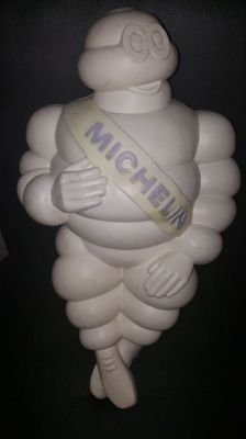 Michelin Bibendum Figure - 1966 - 48 cm - Michelin-man - France - with complete support