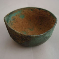 Chinese bronze wine cup - Ming dynasty - 57 mm