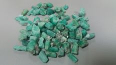 Lot of emeralds - 55.97 gr - 279.8 ct (63)