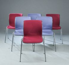 "Alfred Homann for Fritz Hansen – set of 6 seats, model ""Ensemble""."