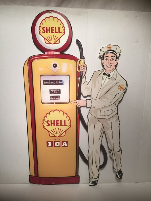 Shell Heavy metal sign 73 x 42.5 cm, USA, late 20th-early 21st century