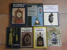 7 books on timepiece technique, clocks, sun dials and own-built - 1963 -1983.