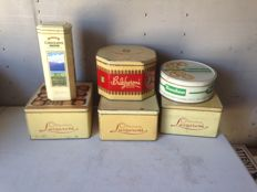 Advertising boxes of Italian cookies-Lazzaroni, Bovolone, Bulgheroni, Carolans -from between the 1950s and the 1980s