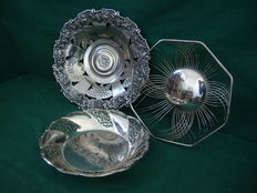 3 - Silver Plated Fruit Trays