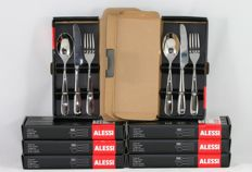 Ettore Sottsass for ALESSI - 8 x Nuovo Milano dessert set, 24 pieces