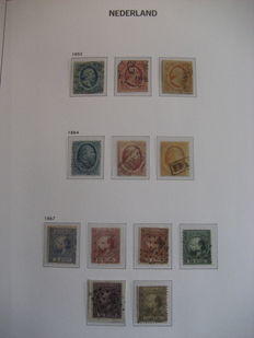 """The Netherlands 1852/1945 – Complete collection of postage stamps + division """"Back of Book"""" in Davo LX album with case"""