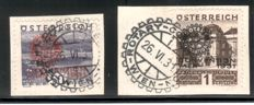 Austria 1931/1936 - 'Rotary' and two more sets on letter pieces, Michel 518/523, 557/562 and 623/626