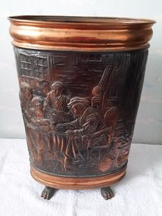 Beautifully crafted copper umbrella stand, second half of 20th century, the Netherlands