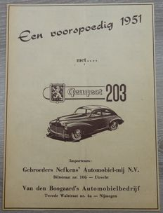 Peugeot 203 - Lot of 17 Advertisements from 1950 to 1957