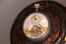 Mobilis Svizzera - Pocket watch - circa 1910 - 1 minute Tourbillon - Karousel